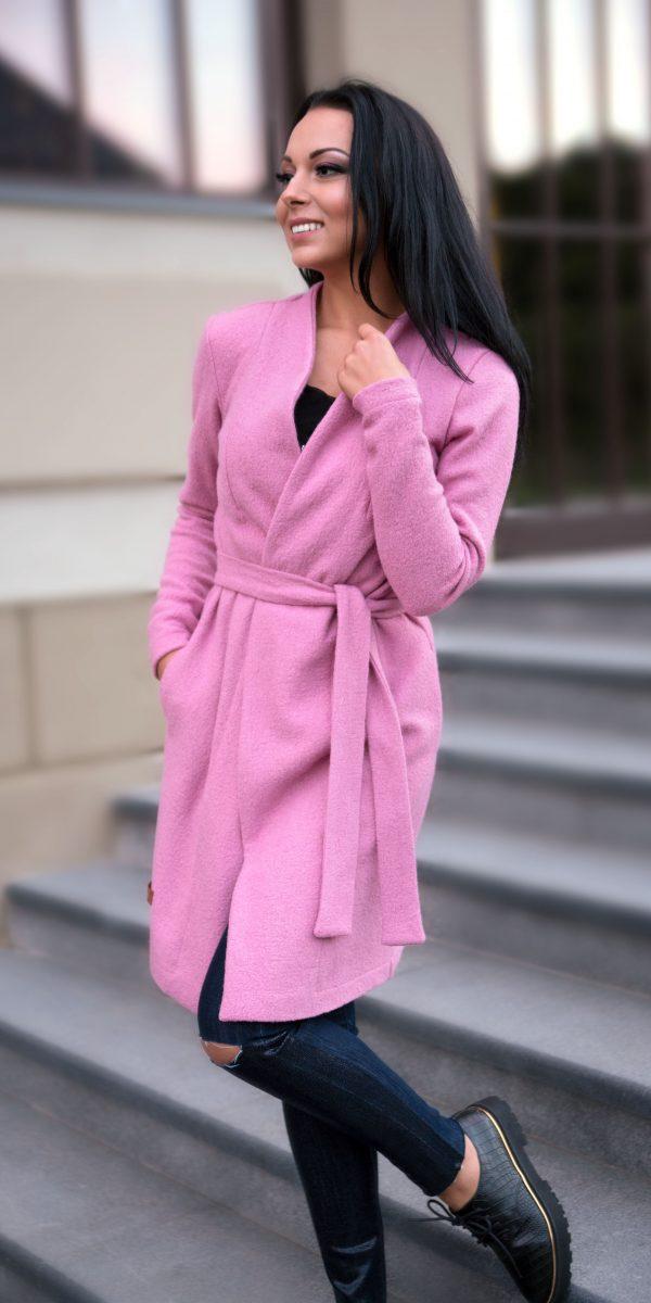 rozinis kardiganas